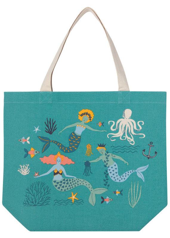 Danica Studio Mermaids Canvas Tote