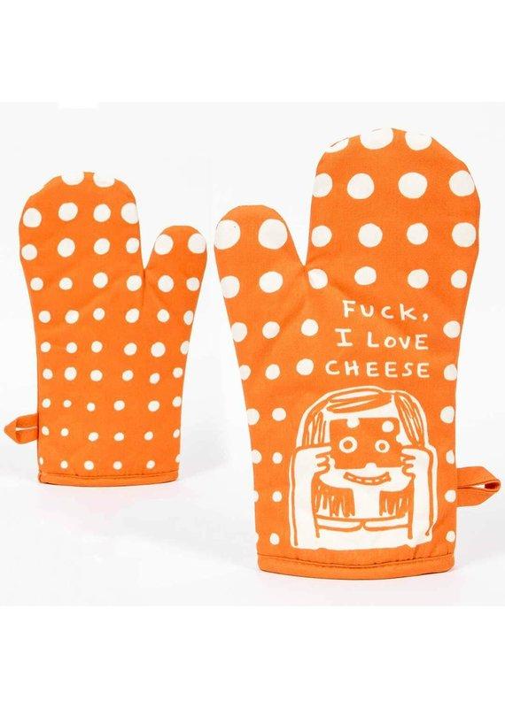 blue q I love Cheese Oven Mitt