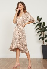 Ciao Bella Abby Puffed Sleeve Wrap Dress