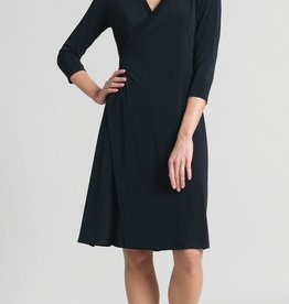 Ciao Bella Faux Wrap V Neck Dress