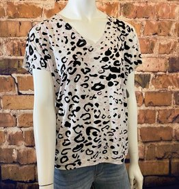 Ciao Bella Animal Print V Neck Blouse