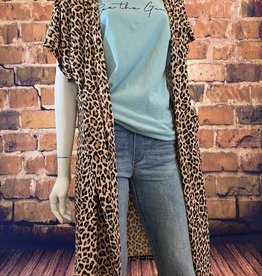 Ciao Bella Short Sleeve Leopard Cardigan