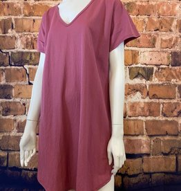 Ciao Bella Lola V Neck  Tee Shirt Dress