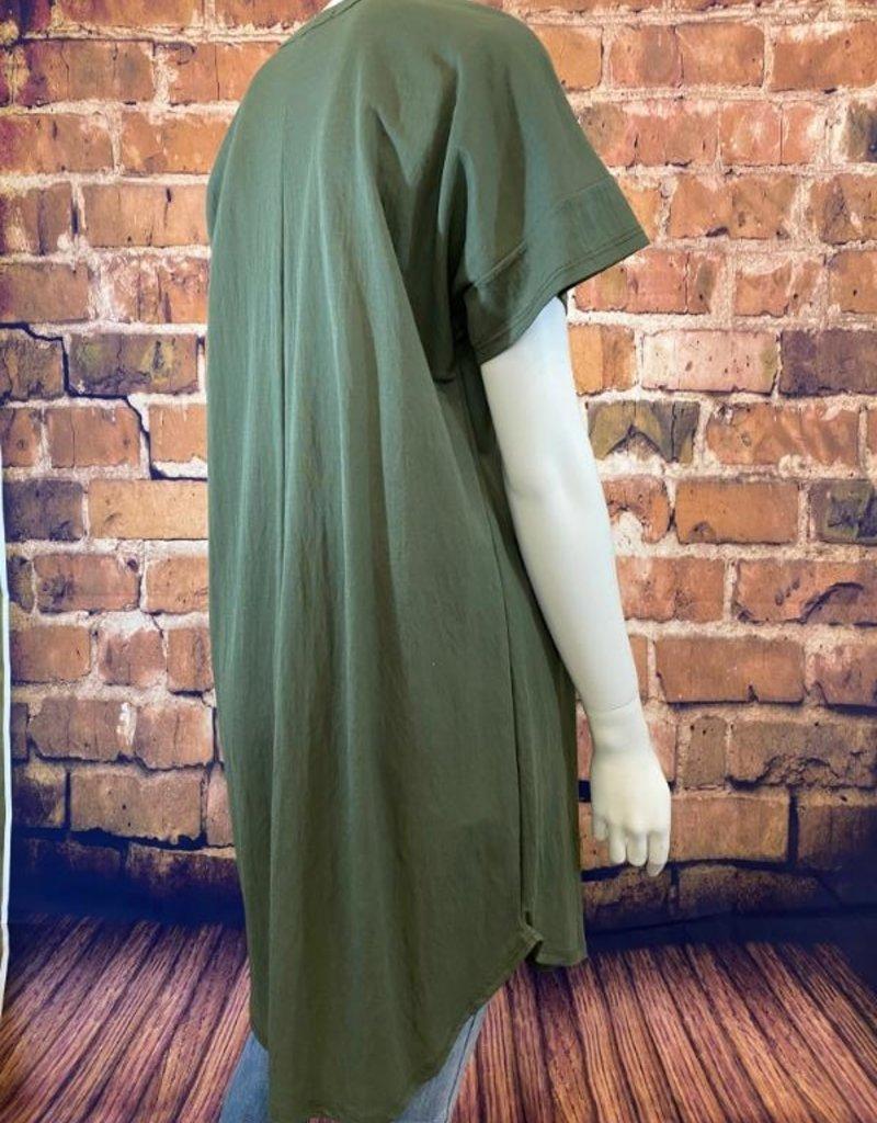 Ciao Bella Lola V Neck  Tee Shirt Dress