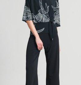 Ciao Bella Bouquet Print Side Tie Knit Top