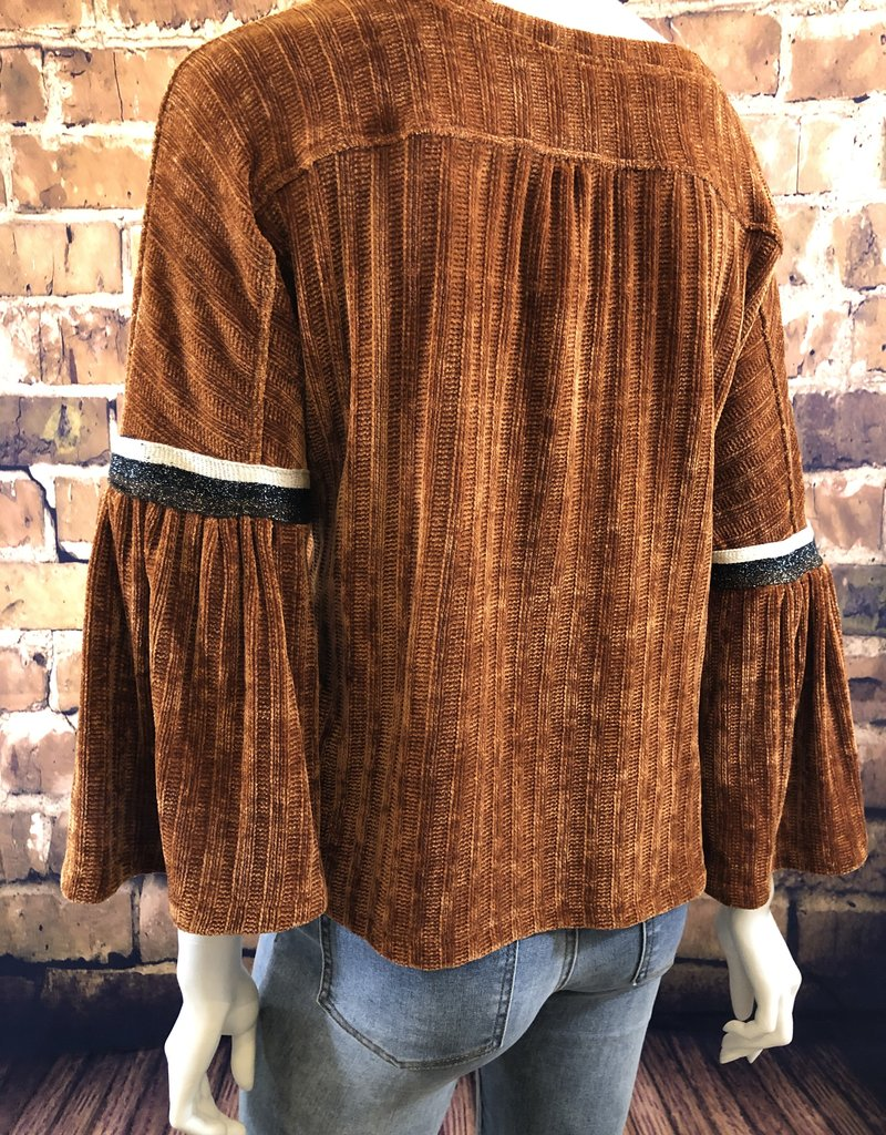 Ciao Bella Whitney Chenille Drop Shoulder Top