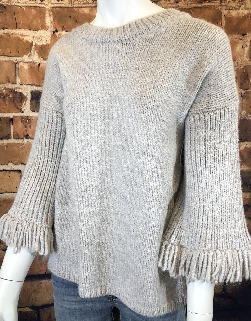 Ciao Bella Fringe sleeve sweater Lg