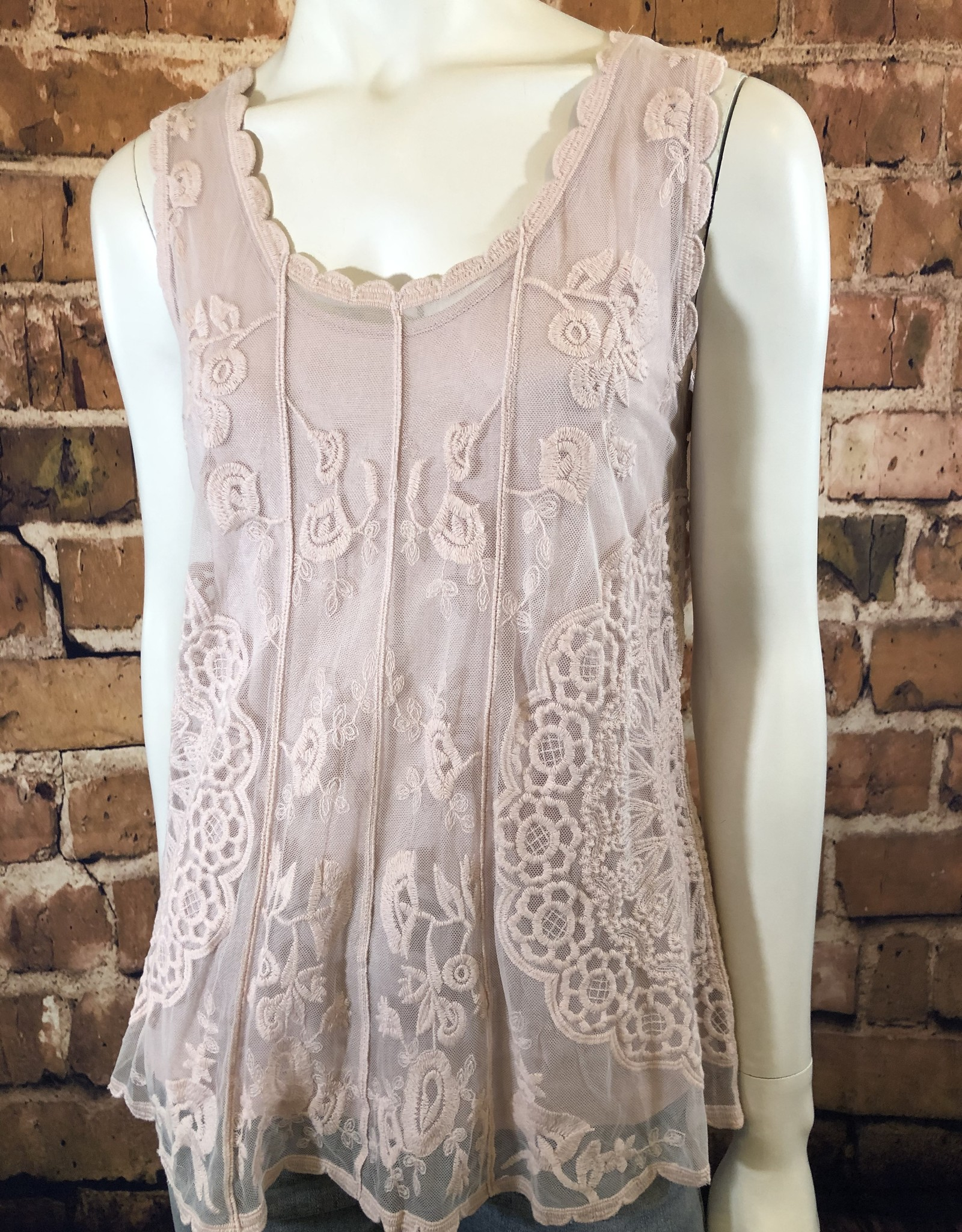 Ciao Bella Embroidered Swing Tank
