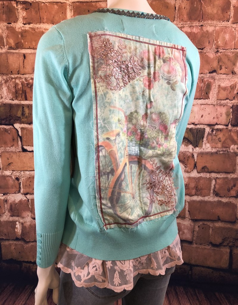Ciao Bella Beaded Button Down Cardigan