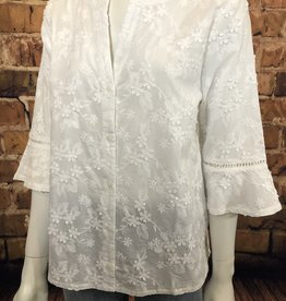 Ciao Bella Embroidered Woven Top