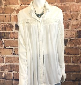 Lila Button Up Top