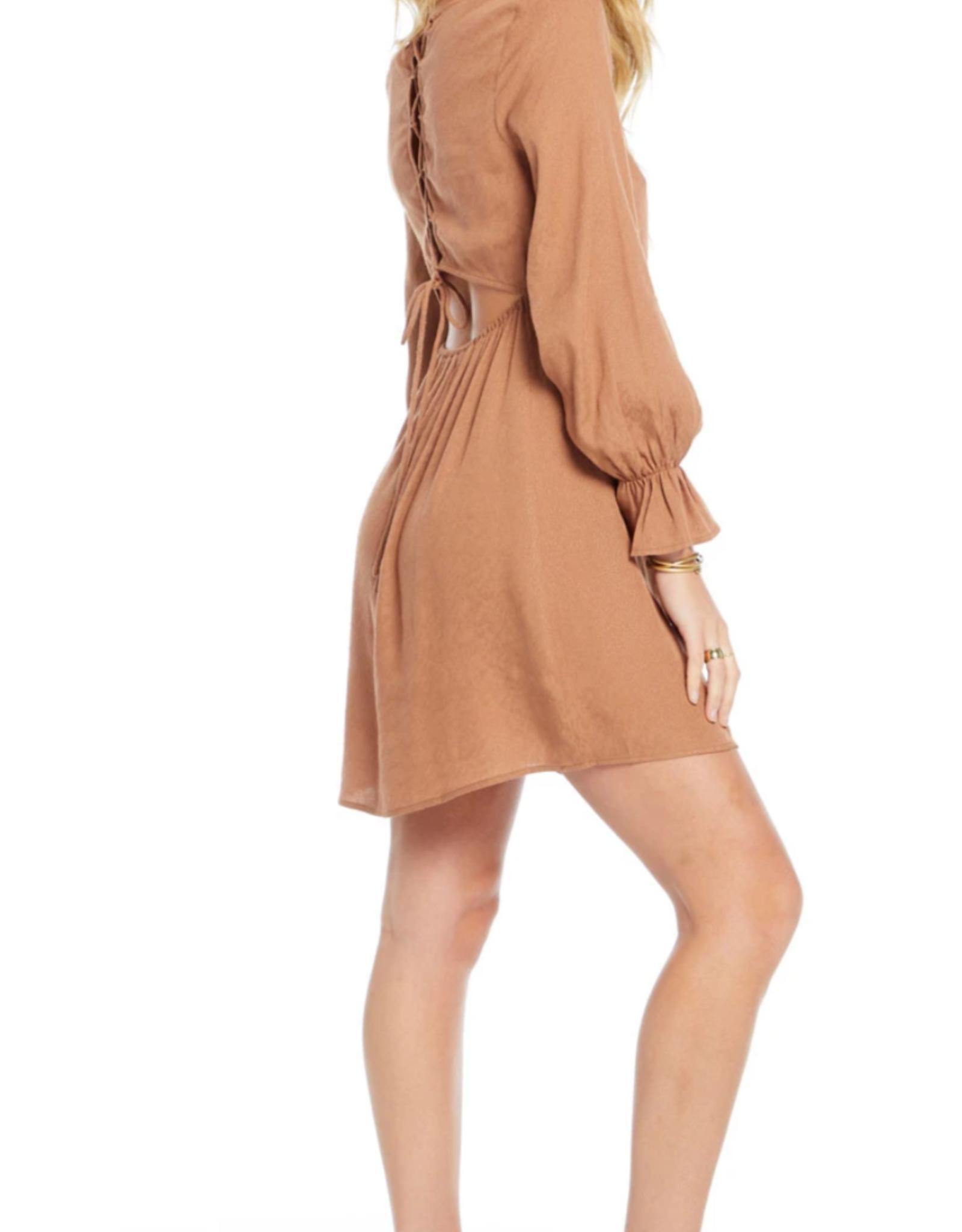 Ciao Bella Back Lace Up Mini Dress
