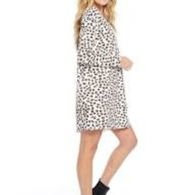 Ciao Bella Animal Instinct Long Sleeve Cross Back Dress