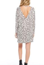 Ciao Bella Animal Instinct Long Sleeve Cross Back Dress