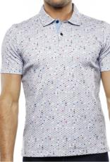 Luchiano Visconti Men's Pinwheel Collared Dot Shirt