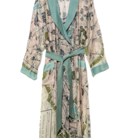 Lightweight Paris Print Robe One Size