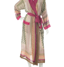Lightweight Moorish Print Robe One Size
