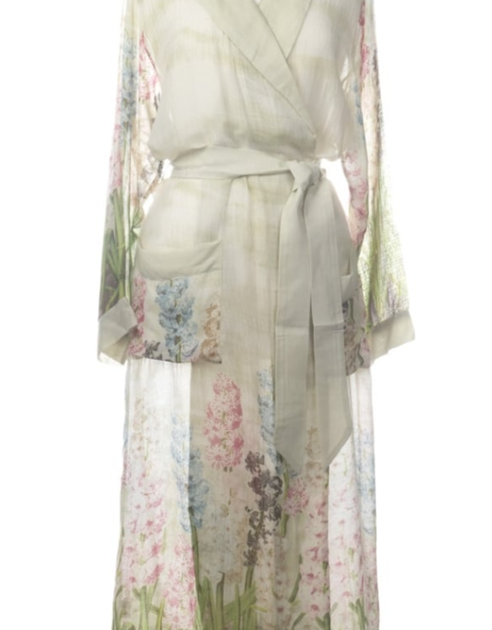 Printed Hyacinth Print Robe One Size