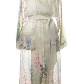 Printed Hyacinth Print Robe One Size