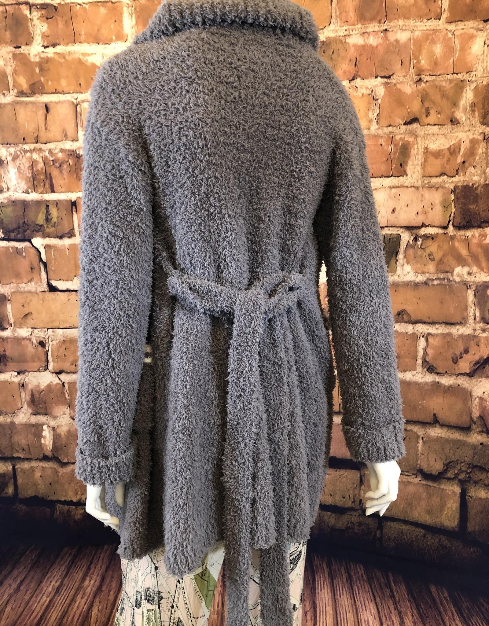 Stripe Pocket Burbur Robe