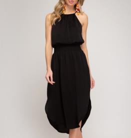Ciao Bella Scarlett Halter Neck Midi Dress