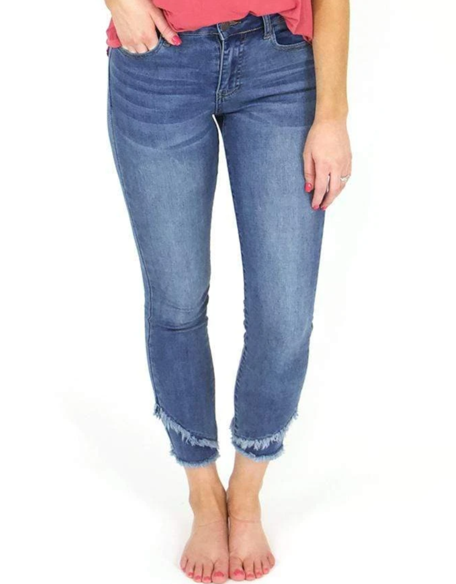 Grace and Lace Cropped Double Hem Jeggings