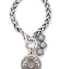 French Kande Cheval Chain Aime Medallion Bracelet