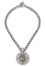 "French Kande 16"" Drago Medallion Necklace"