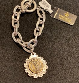 French Kande Saint Michel Medallion Chain Bracelet