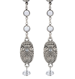 French Kande Crystal Chanel Swarovski Drop Earring