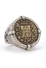 French Kande Signet Gustave Medallion Ring