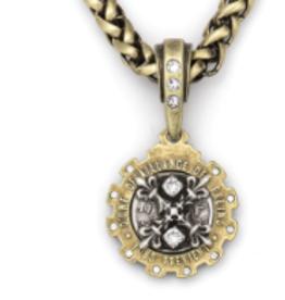 "French Kande 17"" X Medallion Necklace"