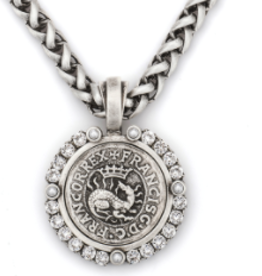 "French Kande 16"" Drago Medallion Necklace"