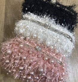 Pearl Thread Evening Clutch