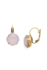 Cushion Cut French Wire Earrings in Antique Gold