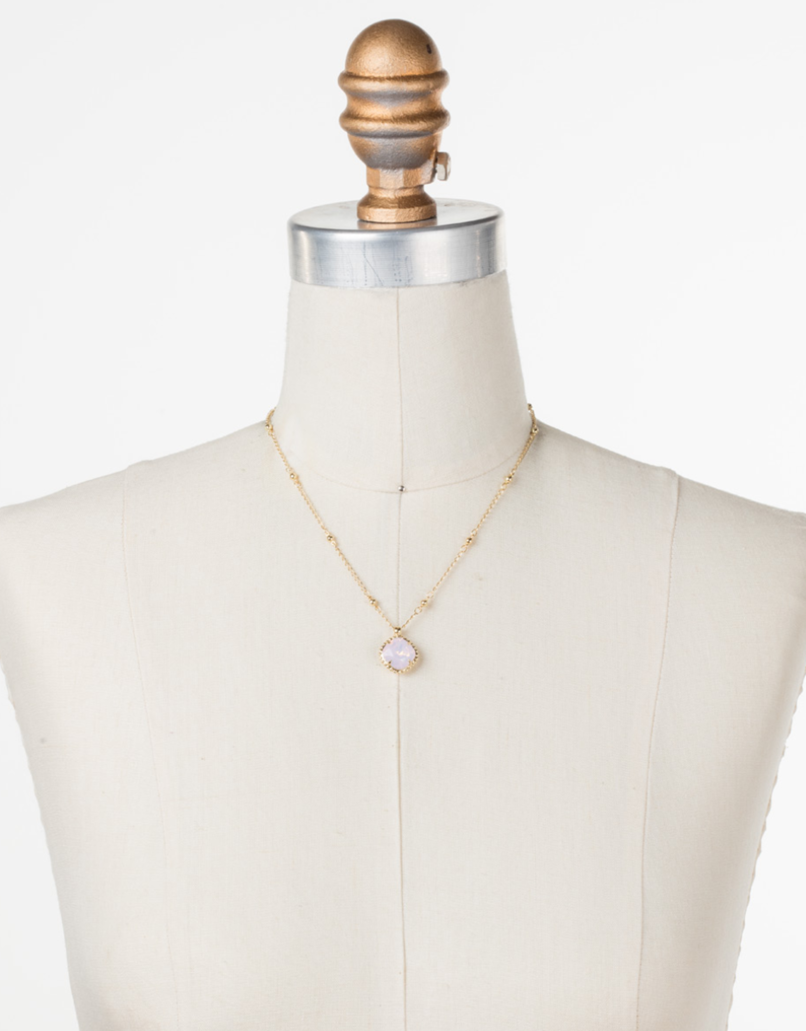 Sorrelli Cushion-Cut Solitaire Necklace Bright Gold