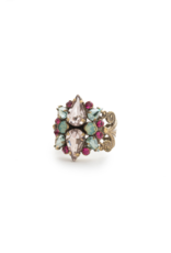 Sorrelli Alstromeria Ring in Antique Gold