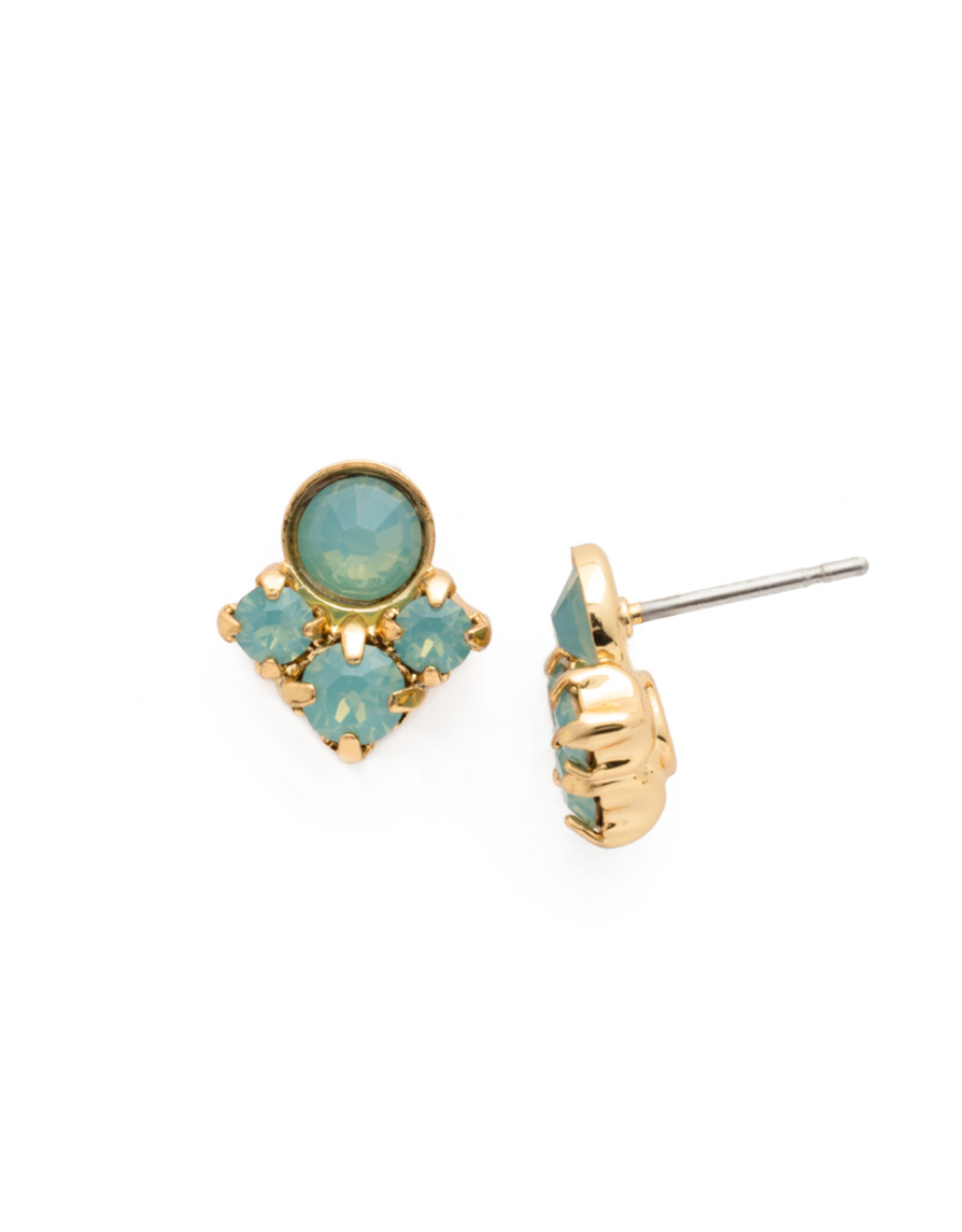 Sorrelli Petite Crystal Cluster Post Earring in Bright Gold