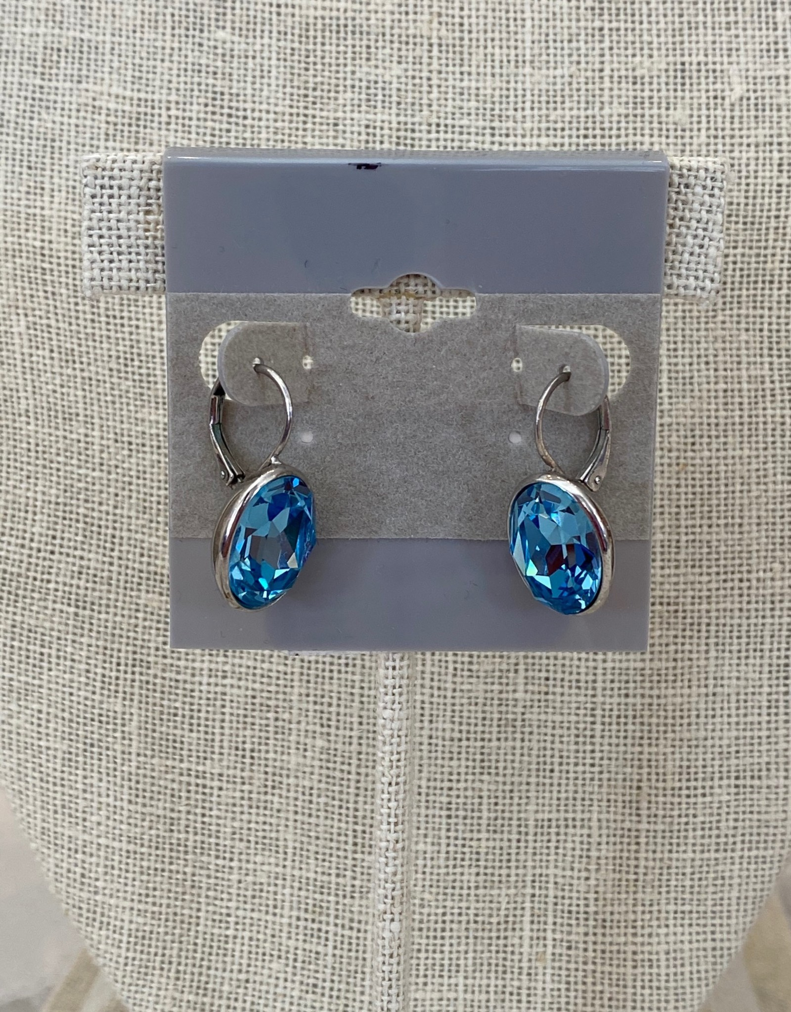 Swarovski Crystal Earrings Blue