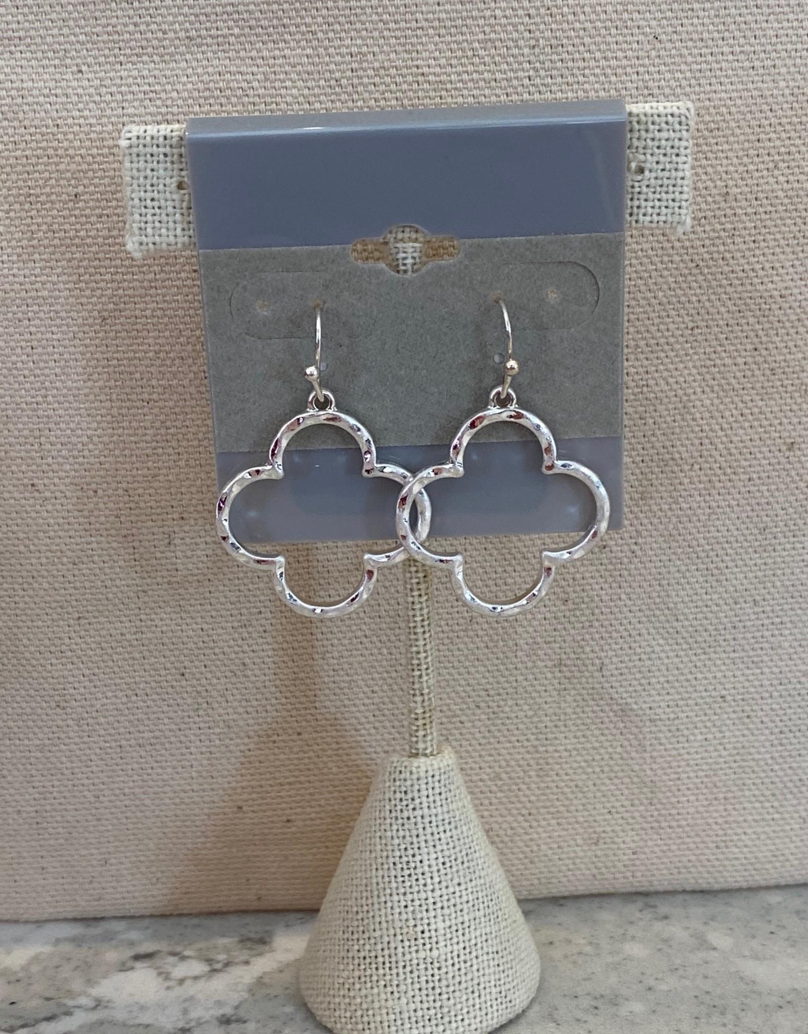 Quatrefoil Earring Siver