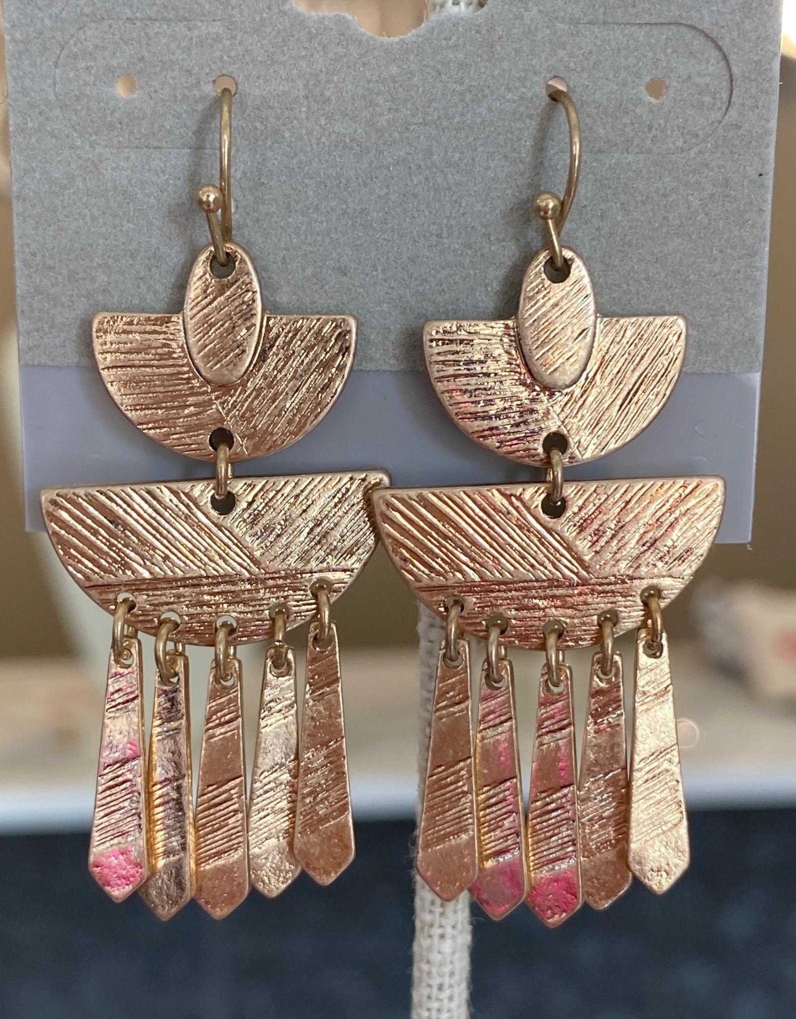Gold Pagoda Earring