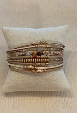 Pink/Nude Magnetic Beaded Bracelet
