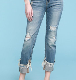Judy Blue Jolie Midrise Distressed Jean