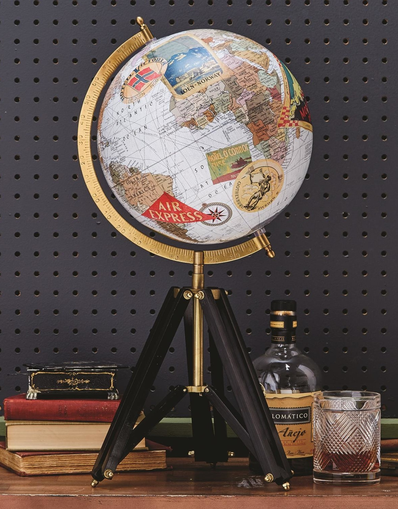 Globe on tripod