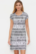 Striation Classic Crew Neck Dress