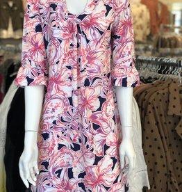 Paisley Ruffle Sleeve Dress