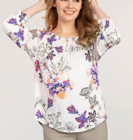 Tribal 3/4 On Off Sleeve Blouse