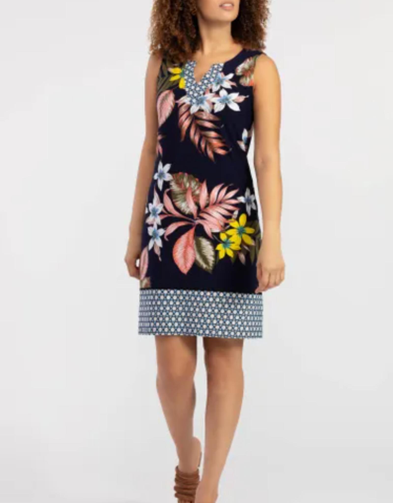 Tribal Sleeveless Tropical Print Dress