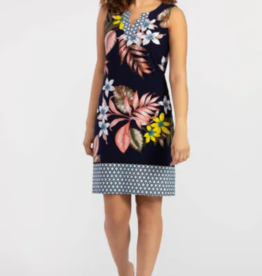 Tribal Sleeveless Tropical Print Dress