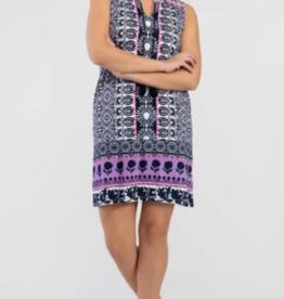 Tribal Tropical Print Dress